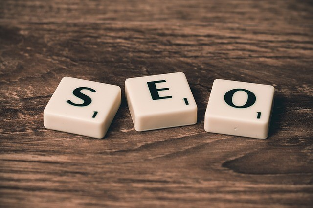 Small business SEO tips: SEO written on scrabble pieces